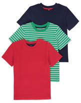 George Assorted Stripe T-Shirts 3 Pack