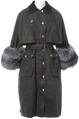 Miu Miu Khaki Cotton Coat for Women