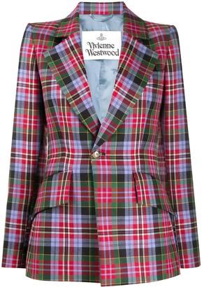 Vivienne Westwood Tartan-check wool blazer