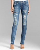 Citizens of Humanity Jeans - Distressed True Denim Straight in Slash