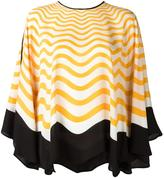 Fendi Waves blouse - women - Silk - 44