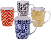Certified International Chelsea Floral 4-pc. Coffee Mug Set