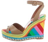 Valentino Rainbow Espadrille Wedge Sandals