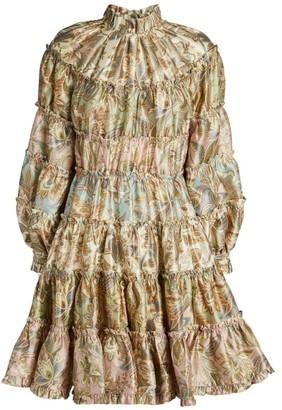 Zimmermann Ladybeetle Gathered Mini Dress