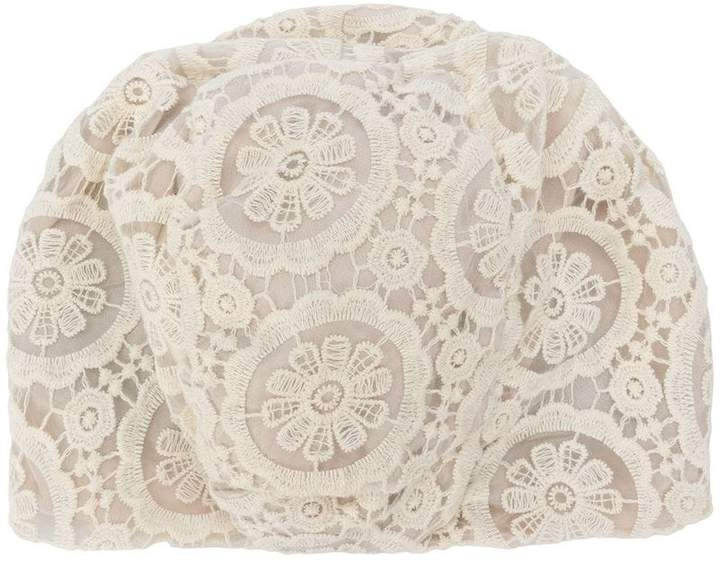 Antonio Marras lace-embroidered fitted hat