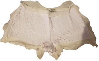 Fendi White Cloth Shorts