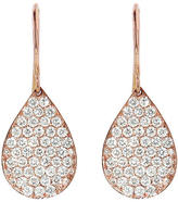 Irene Neuwirth Pave Diamond Teardrop Earrings - Rose Gold