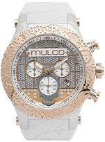 Mulco Men's MW5-2331-013 Couture Analog Display Swiss Quartz White Watch