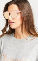 MUMU Perverse Sunglasses ~ Taehler ~ Stella: Glossy Pink Marble, Reflective Pink Lenses and a Golden Frame