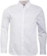 Ted Baker Mens Rain Jam Long Sleeve Plain Satin Stretch Shirt White