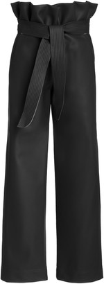 Johanna Ortiz Lady Of The Desert High-Rise Vegan Leather Pants