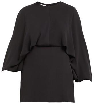 Valentino Draped Silk-georgette Blouse - Womens - Black
