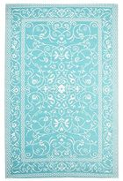 Pier 1 Imports Traditional Mat Rug - 4x6 Turquoise