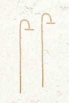 Chan Luu Gold Bar Chain Thread Earrings Gold 1 Size
