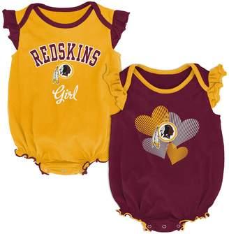 Redskins Outerstuff Girls Infant Burgundy/Gold Washington Homecoming Celebration 2-Piece Bodysuit Set