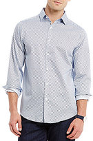 Hart Schaffner Marx Diamond Print Long-Sleeve Woven Shirt