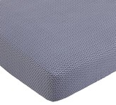 Balboa Baby Cotton Sateen Fitted Crib Sheet - Slate & White Dot