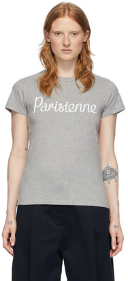 MAISON KITSUNÉ Grey Parisienne T-Shirt