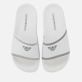 Emporio Armani Women's Slide Sandals - White/Black