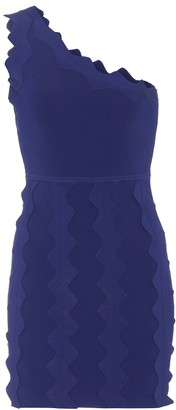 David Koma One-shoulder knit mini dress