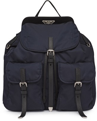 Prada Nylon and Saffiano leather backpack