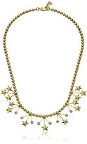 Yochi Stars Crystal Statement Necklace, 18""