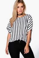 boohoo Plus Miranda Striped Tunic