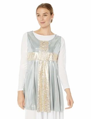Clementine Praise & Liturgical Women's CLP-BW-545-Flowing Cross Sleeveless Tunic Pullover
