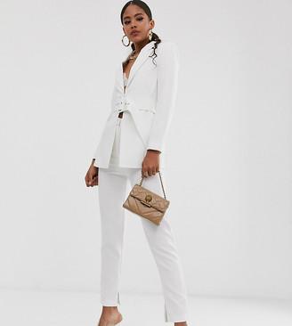 Club L London Tall skinny cigatette trouser in white