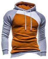 Legou Men without Zipper Splicing Nap Hoodies Sweatershirts XXXL