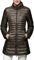 URqueen Women's Ultra Light Packable Long Down Jacket Coat M