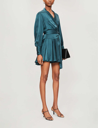 Zimmermann Wrap-over silk mini dress
