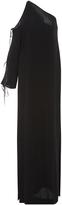 Rosetta Getty One Sleeve Cutout Gown