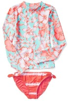 Gap Tropical floral rashguard two-piece