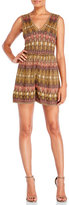 M Missoni Sleeveless V-Neck Knit Romper
