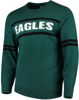 G Iii Men's G-III Sports by Carl Banks Midnight Green Philadelphia Eagles Crewneck Sweater