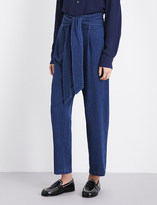 Masscob Belted tapered high-rise jeans