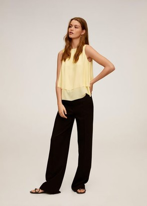 MANGO Flowy blouse yellow - 2 - Women