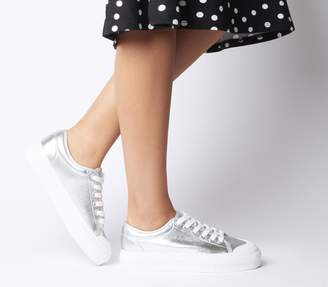 Office Fro Yo Chunky Sole Lace Ups Silver