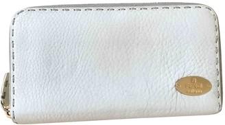 Fendi White Leather Wallets