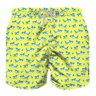 MC2 Saint Barth Micro Sharks Boy Light Swim Shorts
