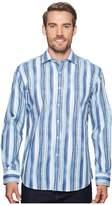 Bugatchi Shaped Fit Striped Woven Shirt Men's Clothing
