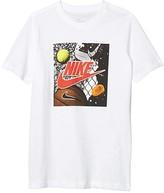 Nike Sportswear Playground Futura Tee (Big Kids) (Dark Grey Heather) Boy's T Shirt