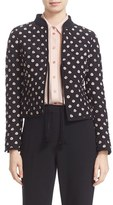 Kate Spade Ditsy Floral Silk Quilted Jacket