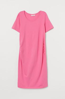 H&M MAMA Cotton Jersey Dress - Pink