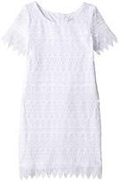 Us Angels Sleeveless Sheath w/ Lace Overlay Dress (Big Kids)