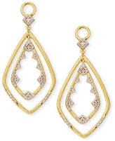 Jude Frances 18k Lisse Double Drop Diamond Kite Earring Charms
