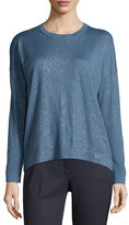 Peserico Long-Sleeve Shimmery Top, Blue