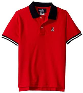 Psycho Bunny Kids Fairholt Polo (Toddler/Little Kids/Big Kids) (Brilliant Red) Boy's T Shirt