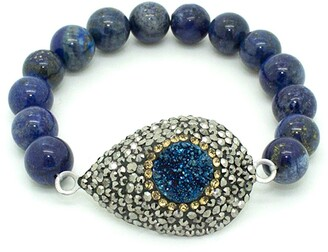 Eye Candy Los Angeles Blue Druzy My Wrist Beaded Bracelet